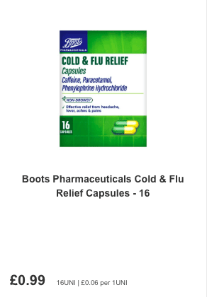 Cold and Flu tablets