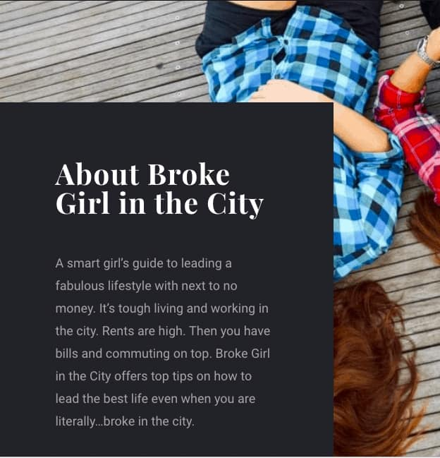 About Broke Girl in the City