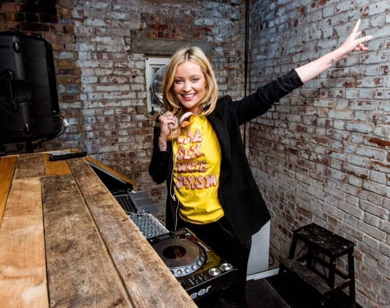 Laura Whitmore on the decks