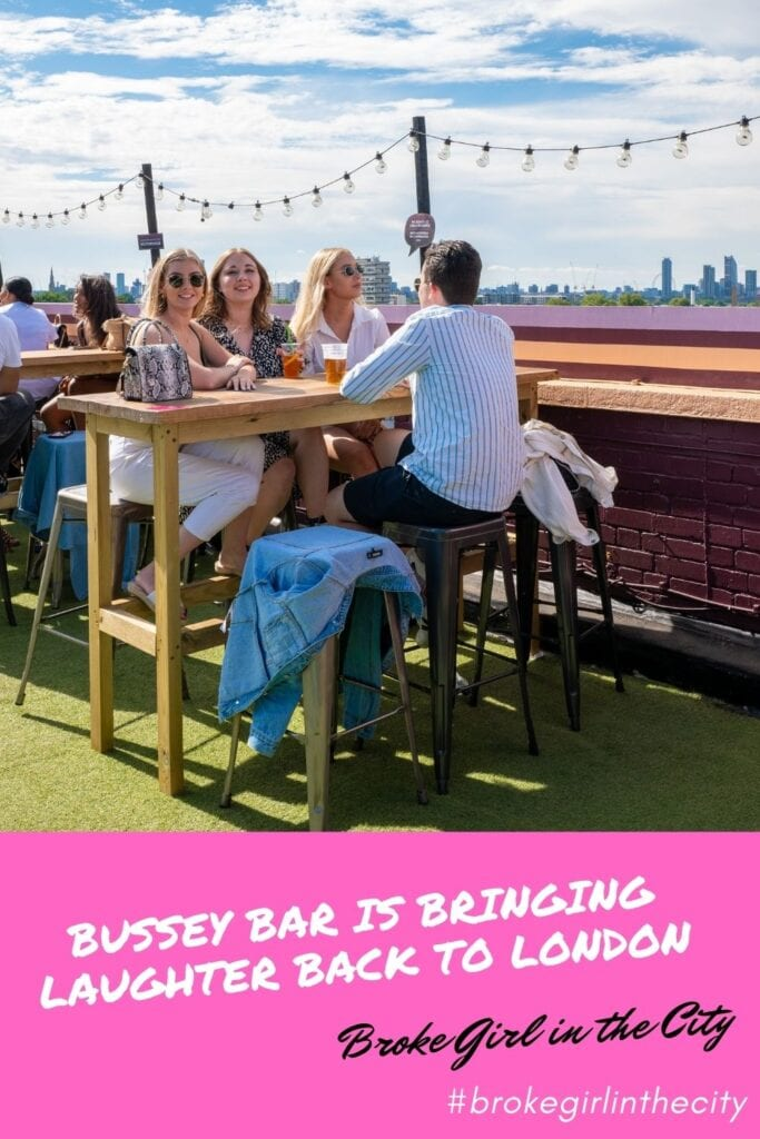 Bussey Rooftop Bar is bringing laughter back to London
