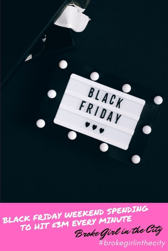 Black Friday weekend spending to hit £3M every minute