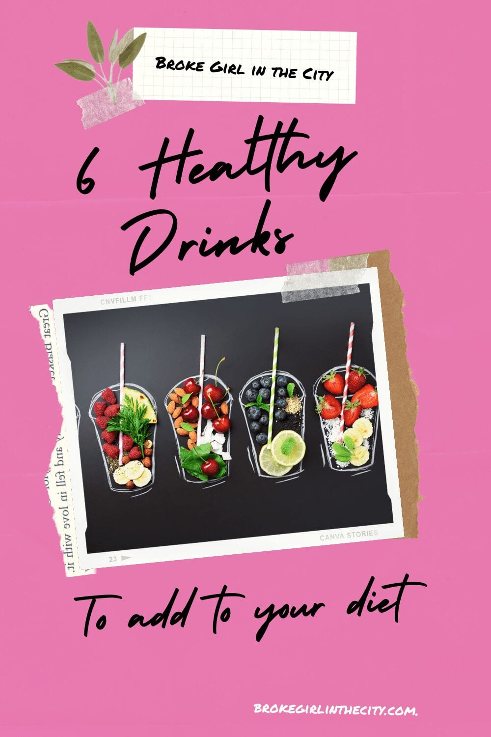 Healthy Drinks Pin